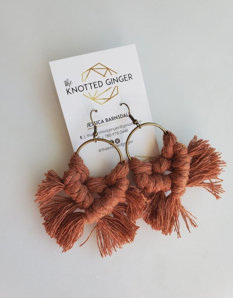 Knotted Ginger KG - Rust Brass Circle