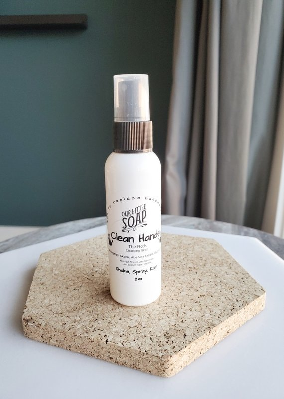 OLS - Clean Hands Cleansing Spray The Rock