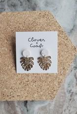 Clover + Coast Clover - Monstera Studs