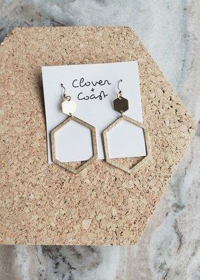 Clover + Coast Clover - Oval Hex Earring