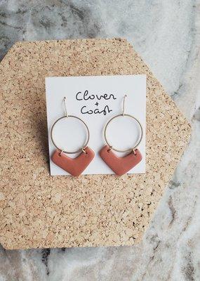 Clover + Coast Clover - Arrow Clay Earrings