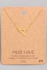 Monogram A Necklace