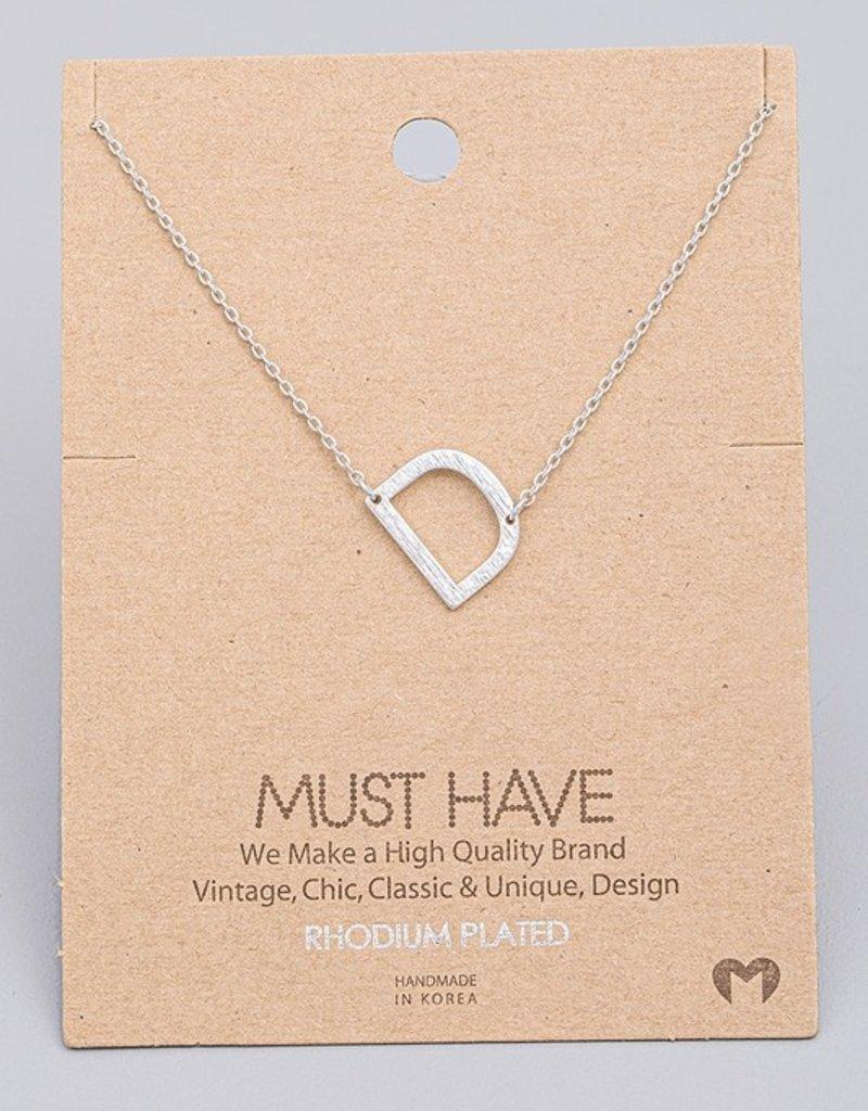 Monogram D Necklace