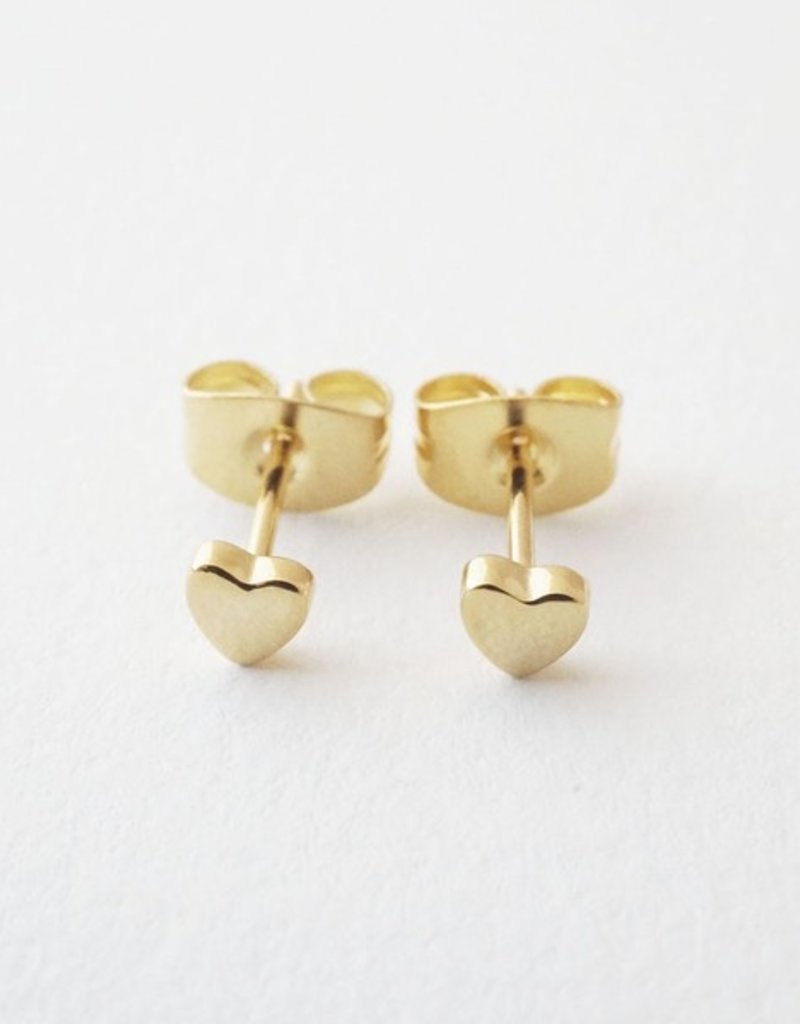Honeycat Mini Heart Studs Earrings