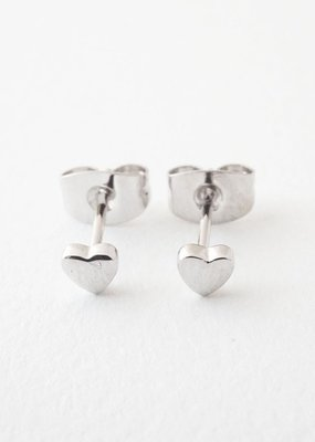 Honeycat Mini Heart Studs Earrings