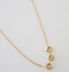Honeycat Brandy 3 Ring Necklace