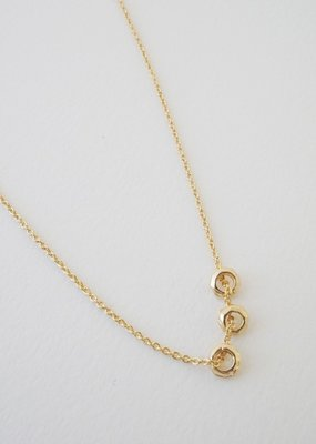 Honeycat Brandy 3 Ring Necklace