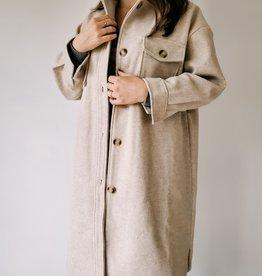 SundayUp Woolen Oversized Jacket