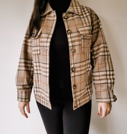 SundayUp Forward Plaid Jacket