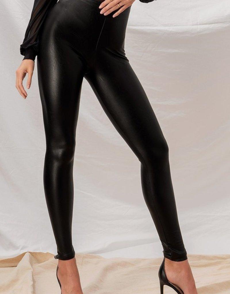 Bold Faux Leather Leggings