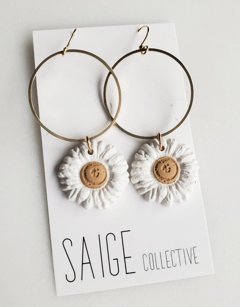 Saige Collective Saige - Daisy Hoops