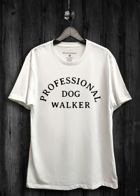 Black Sparrow Pro Dog Walker Tee