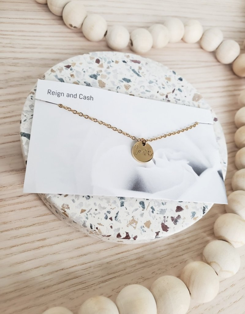 RC - Love Circle Charm Necklace