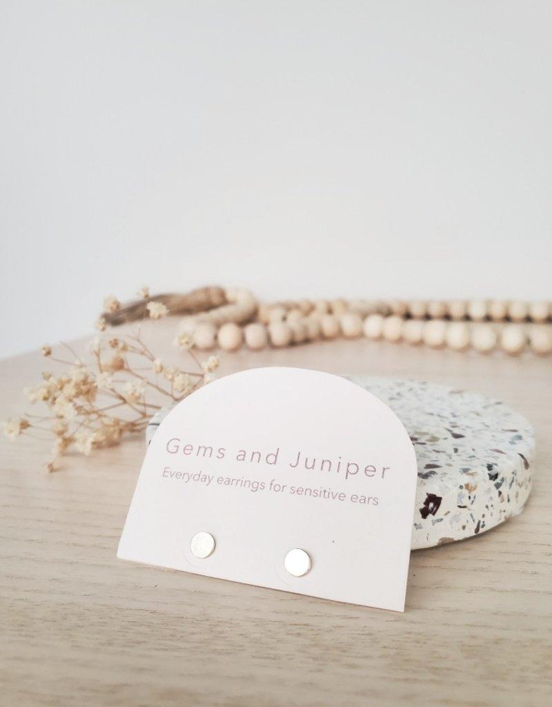 Gems & Juniper GJ - Circle Studs