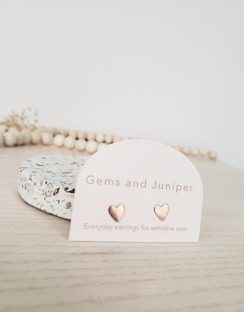 Gems & Juniper GJ - Heart Studs