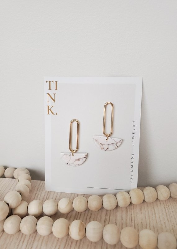 Tink Tink - Oval Drop Earrings