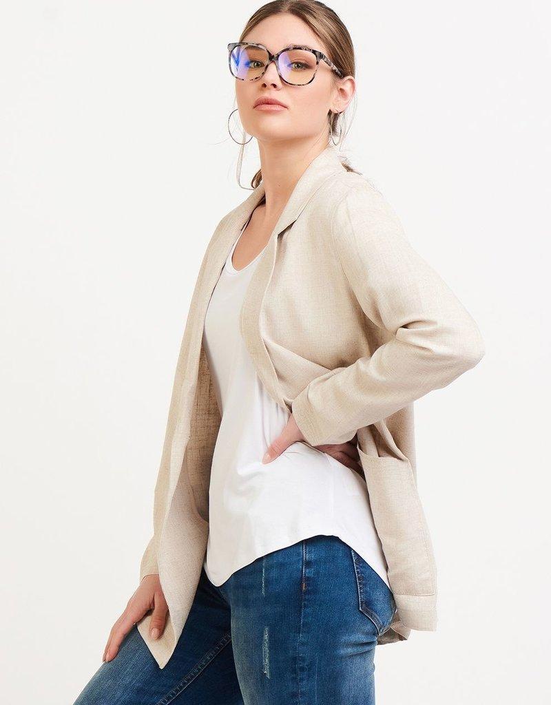 Maya Linen Blazer
