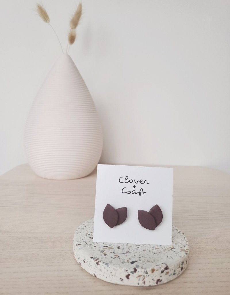 Clover + Coast Clover - Amber Petal Studs