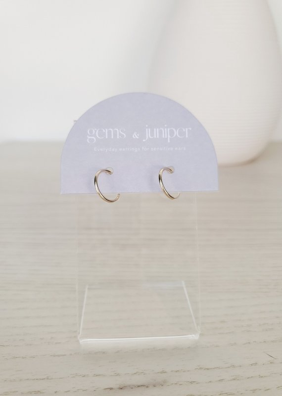 Gems & Juniper GJ - 12mm Gold Hoops