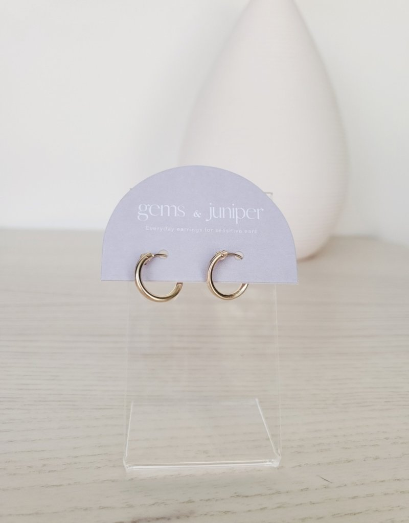 Gems & Juniper GJ - 13mm Gold Latch Hoops