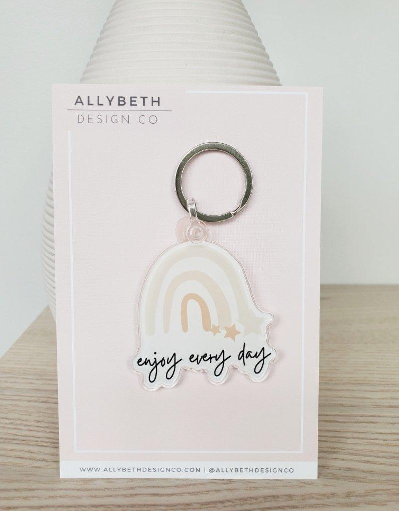 AllyBeth Design Co AB - Keychain - Enjoy Everyday