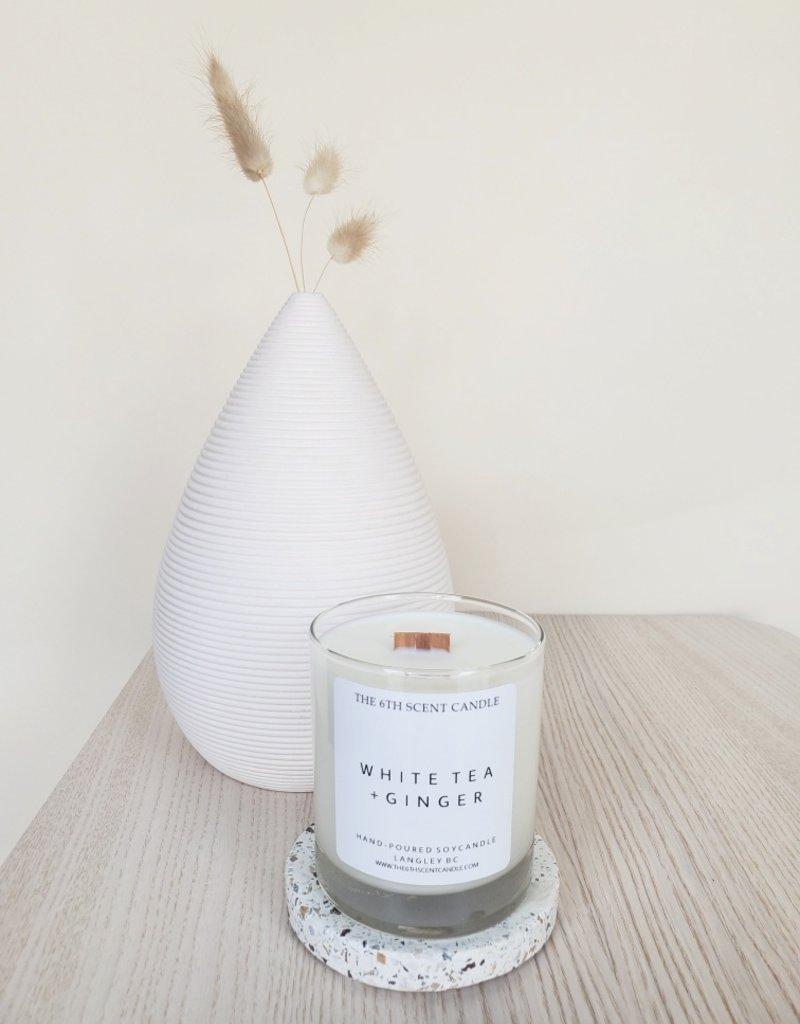 6S - Large Jar/Wood/White Tea Ginger