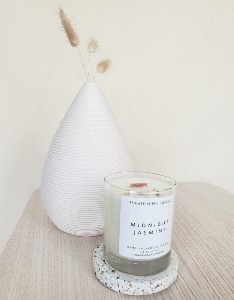 6S - Large Jar/Wood/Midnight Jasmine
