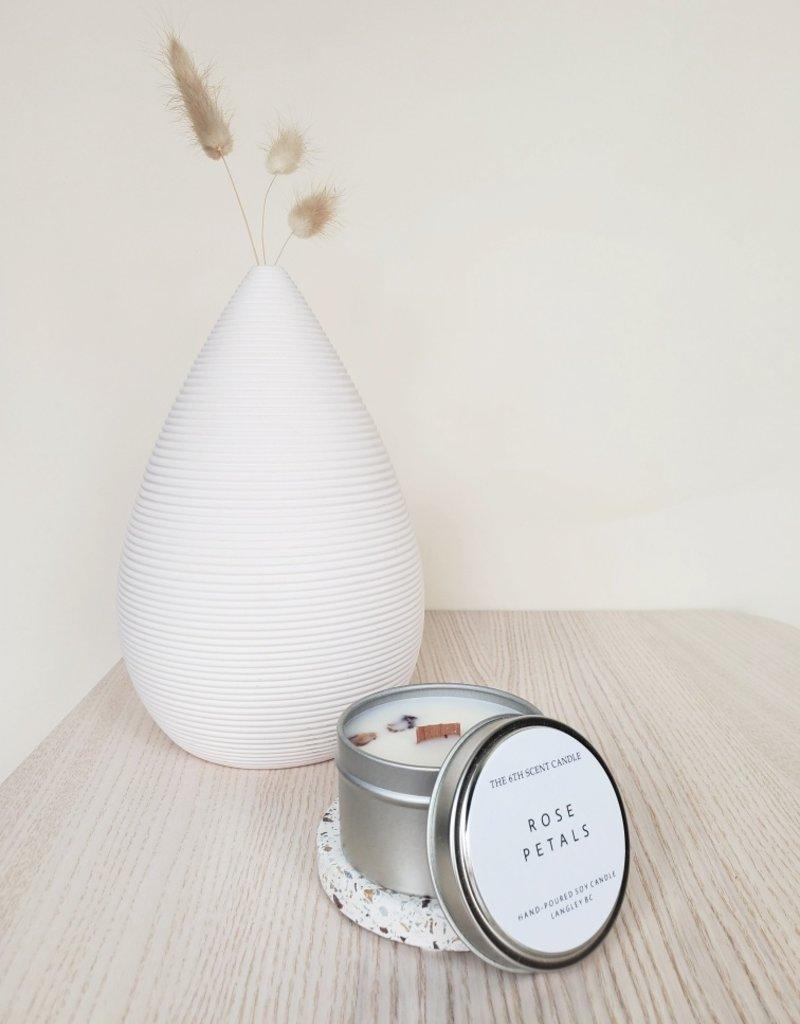 6S - Small Tin/Wood/Rose Petals