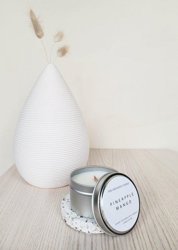 6S - Small Tin/Wood Pineapple Mango