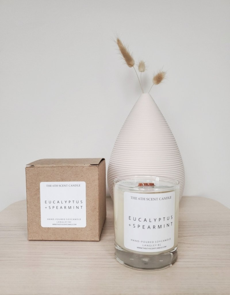 6S - Large Jar /Wood/Eucalyptus + Spearmint