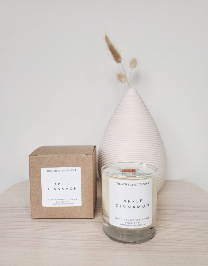 6S - Large Jar/Wood/Apple Cinnamon