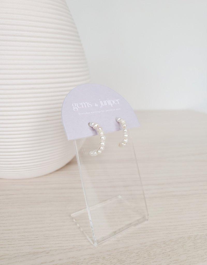 Gems & Juniper GJ - Pearl Strand Earrings