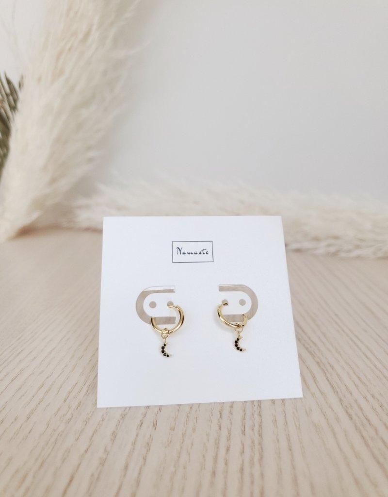 Namaste Jewelry NJ - Selene Moon Drop Earrings