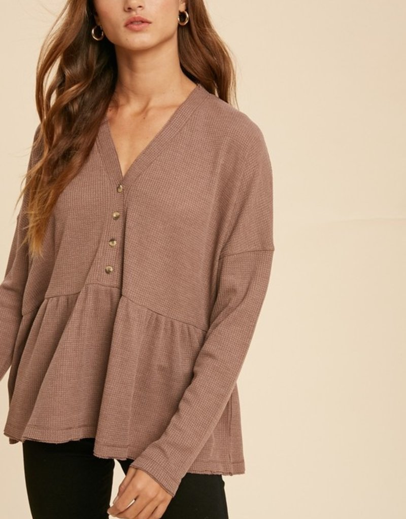 Darling Everything Waffle Top