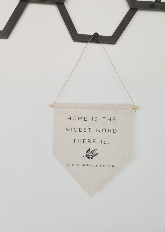 AllyBeth Design Co AB - Canvas Banner - Home is the Nicest Word