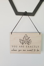 AllyBeth Design Co AB - Small Hanging Sign - You Are Exactly
