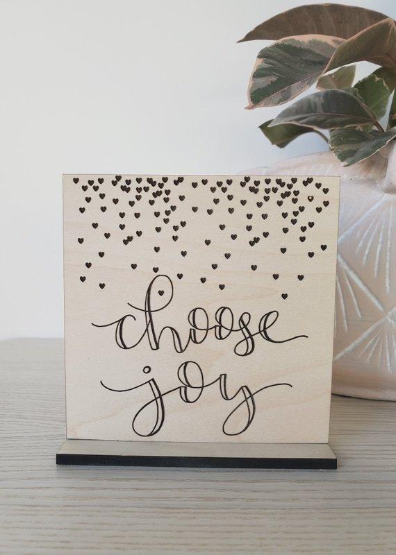 AllyBeth Design Co AB - Standing Sign - Choose Joy