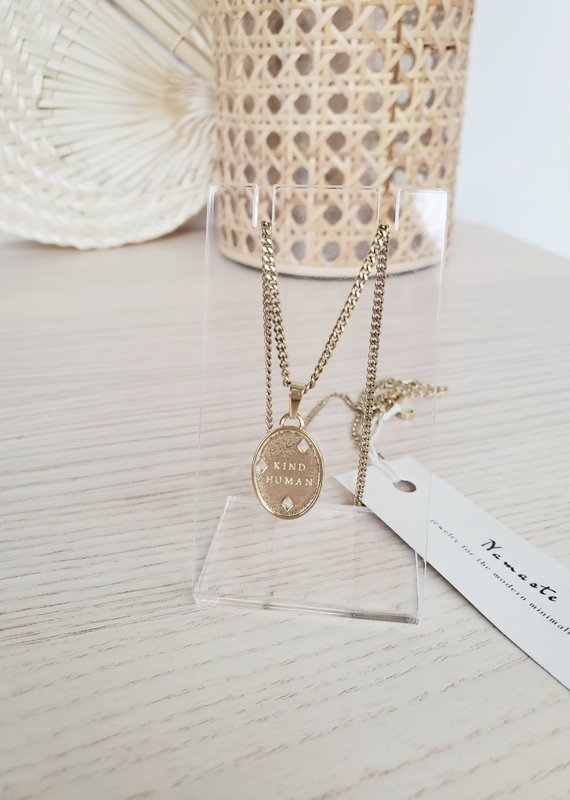 Namaste Jewelry NJ - Kind Human Necklace