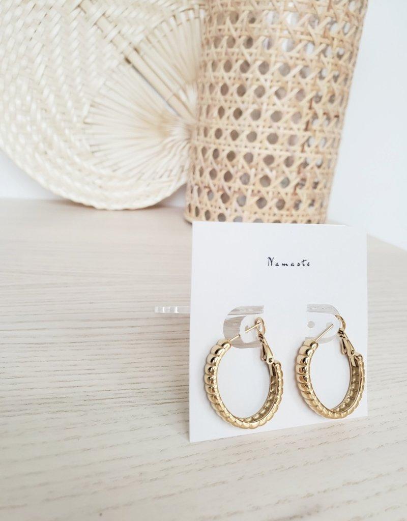Namaste Jewelry NJ - Ida Oval Hoops