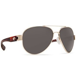 Costa Del Mar South Point Gray 580P Rose Gold w/Light Tortoise Temples