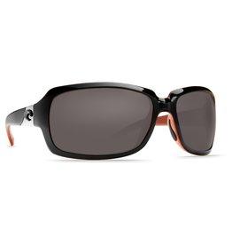 Costa Del Mar Isabela -  Gray Glass - W580, Black/Coral Frame