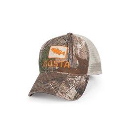 Costa Del Mar Costa XL Bass Trucker Hat (CAMO/STONE) XL - snap back