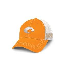 Costa Del Mar Costa Mesh Hat (ORANGE/WHITE) velcro back