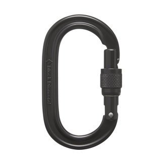 Black Diamond Oval Keylock Screwgate Carabiner