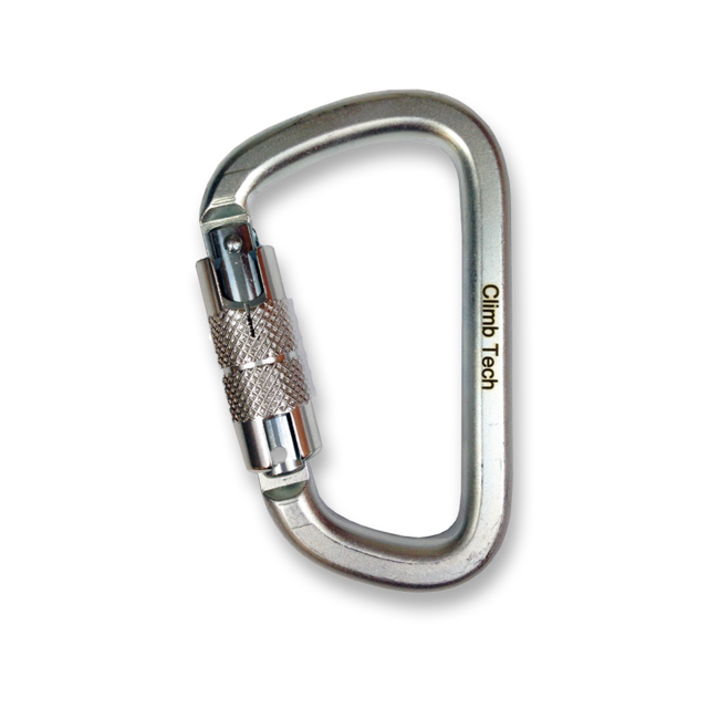 Climb Tech Double Action Oval D Steel Carabiner 50kN