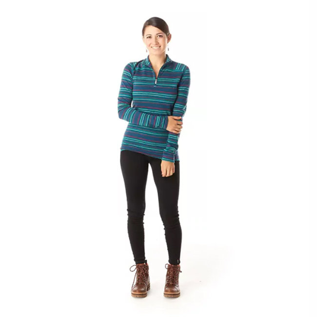 Smartwool Women's Merino 250 Base Layer Pattern 1/4 Zip