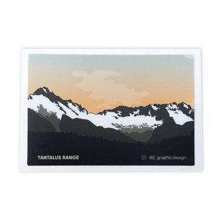 Jade Littlewood Design Tantalus Range Sticker