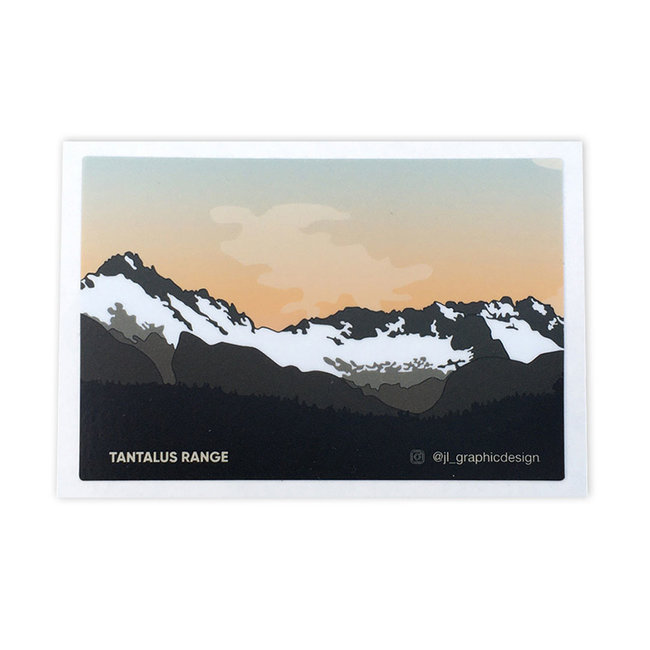 Jade Littlewood Design Tantalus Range Sticker