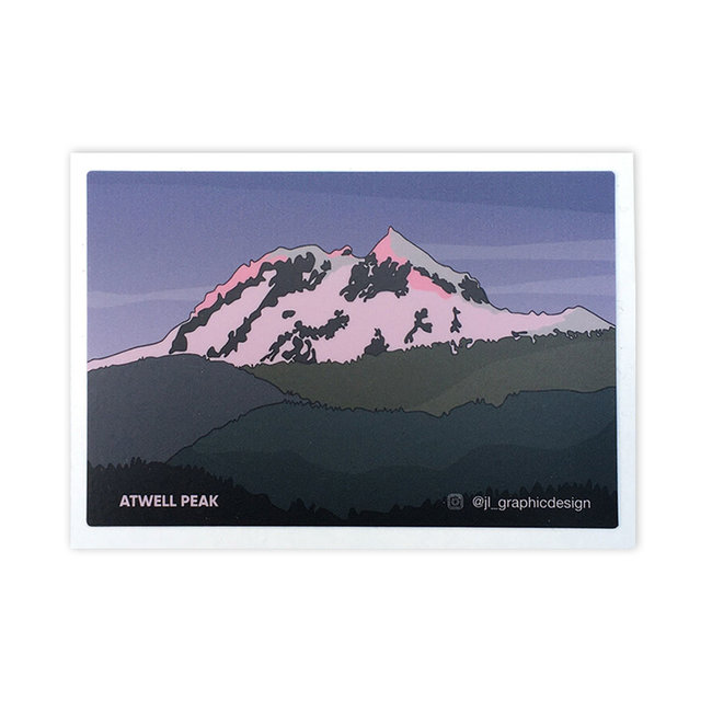 Jade Littlewood Design Atwell Peak Sticker