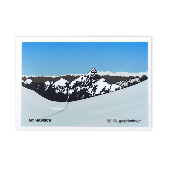 Jade Littlewood Design Mt. Habrich Sticker